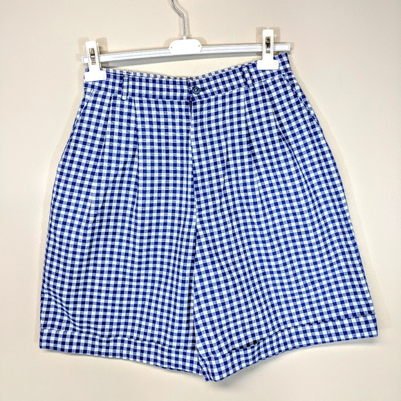 Hunt Club Pants - Vintage 80's Plaid Shorts